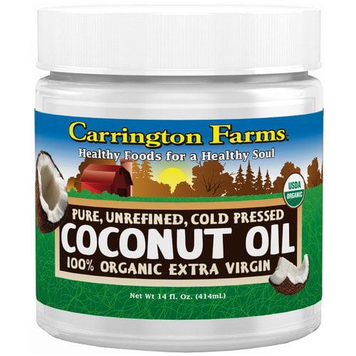 Carrington Farms 100% Organic Extra Virgin Coconut Oil, 14 fl oz by Carrington