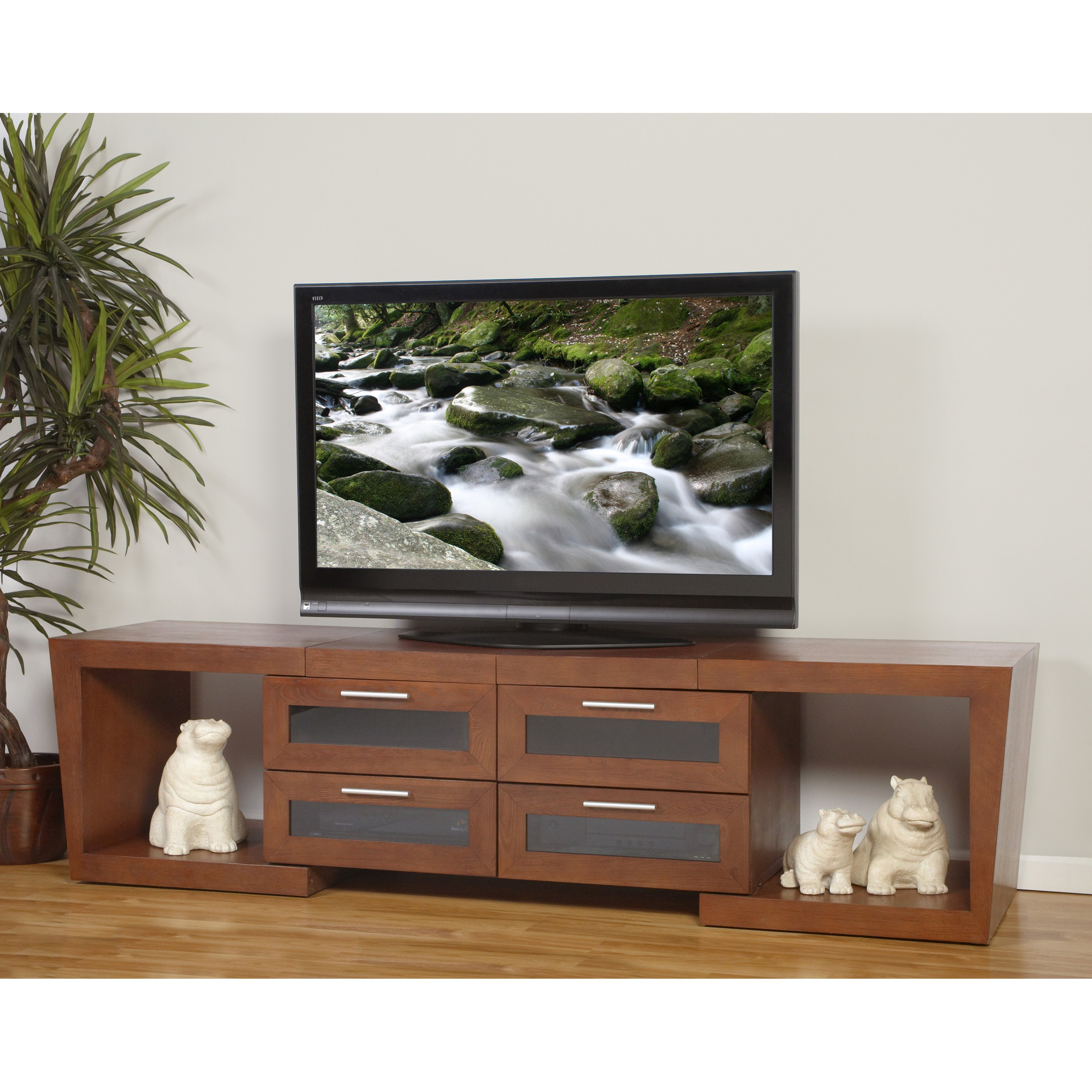 Plateau Valencia 5187 Expandable TV Stand in Walnut