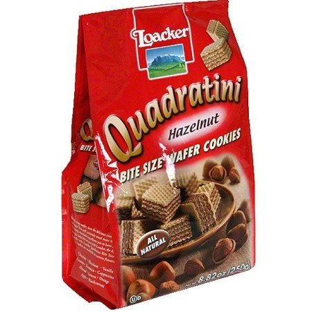 - Loacker Quadratini Hazelnut Wafer Cookies, 8.82 oz (Pack of 8)
