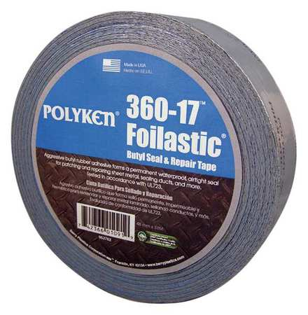 POLYKEN 360-17 Foil Tape, 48mm x 31m, Foil
