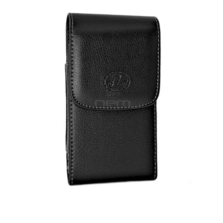 XL Leather Vertical Swivel Belt Clip Case Holster Compatible with BLU Life Mark Devices - (Fits With Otterbox Defender, Commuter, LifeProof Cover On It) - image 7 of 9