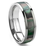 Titanium Kay Titanium Mother of Pearl Inlay 6mm Comfort Fit Wedding Band Ring Sz 10.0
