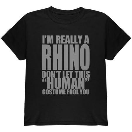 Human Rhino Costume Youth T Shirt (Rhino Costume)