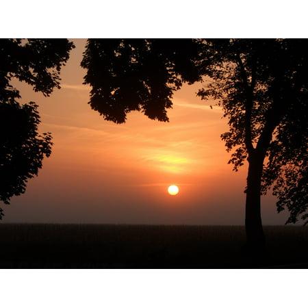 Canvas Print Romania Ialomita Breaking Dawn Sunrise Stretched Canvas 10 x