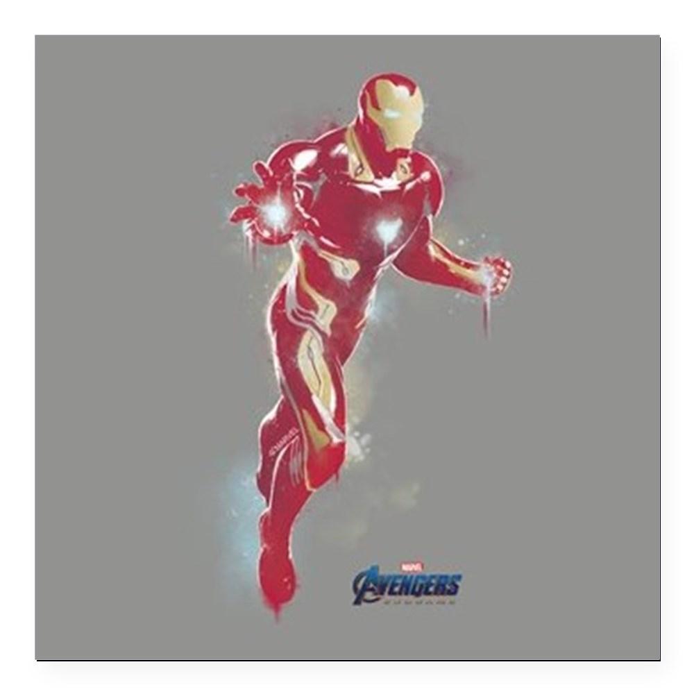 """CafePress - Iron Man Avengers Endg Square Car Magnet 3 X 3 - Square Car Magnet 3"""" x 3"""""""
