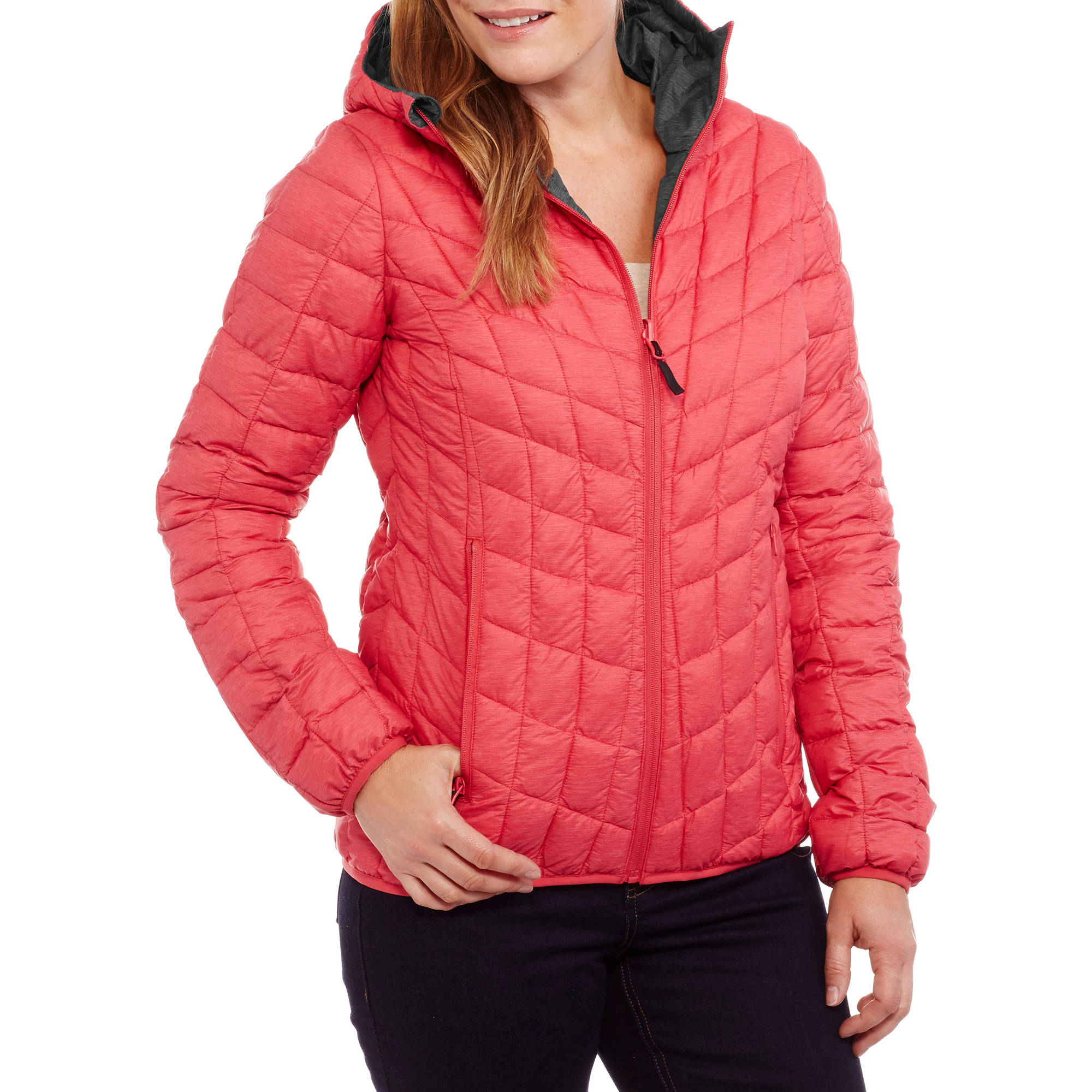 Iceburg Women's Packable Puffer Jacket With Insulated Hood