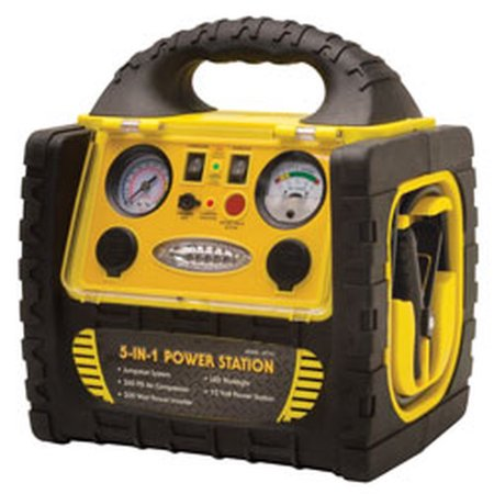 12-Volt Rechargeable Emergency System w/ Power Inverter & Air Compressor