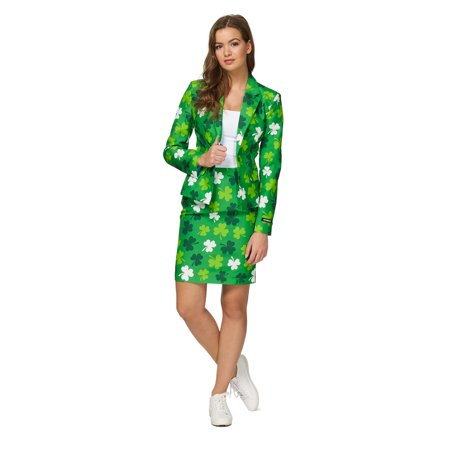 Suitmeister Women's St. Patrick's Day Clovers Irish (Saint Patrick's Day Costume Ideas)