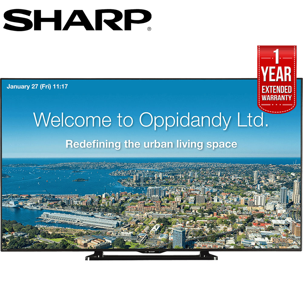 "Sharp 70"" Full HD Commercial LED-LCD TV (PN-LE701) with 1 Year Extended Warranty"