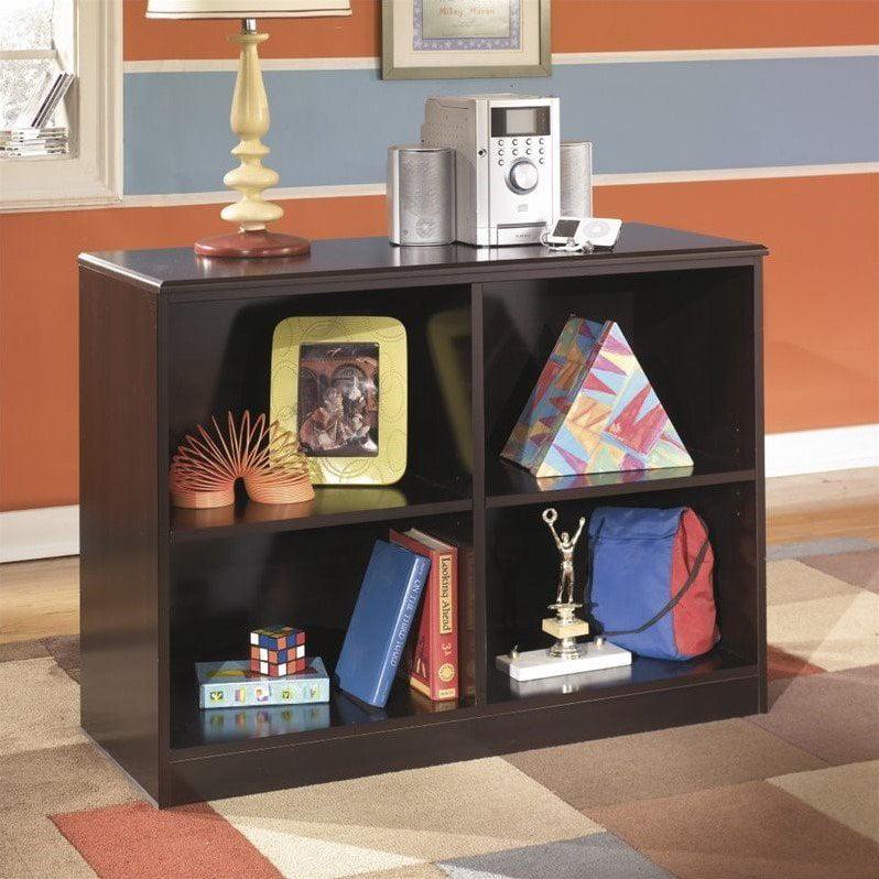 Ashley Embrace 4 Cubby Wood Loft Bookcase in Merlot by Ashley Furniture