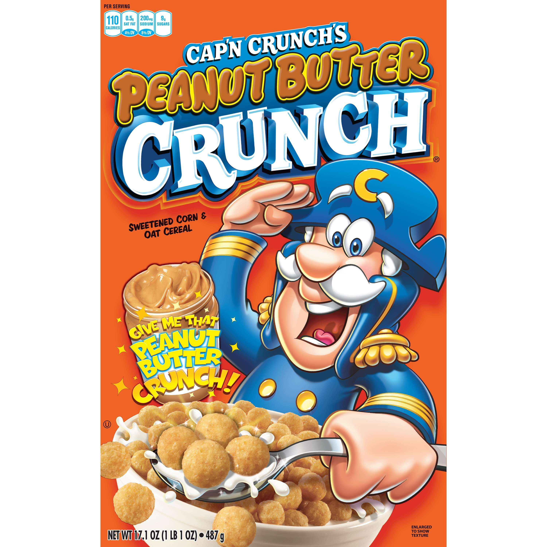 Cap'n Crunch Breakfast Cereal, Peanut Butter Crunch, 17.1 Oz