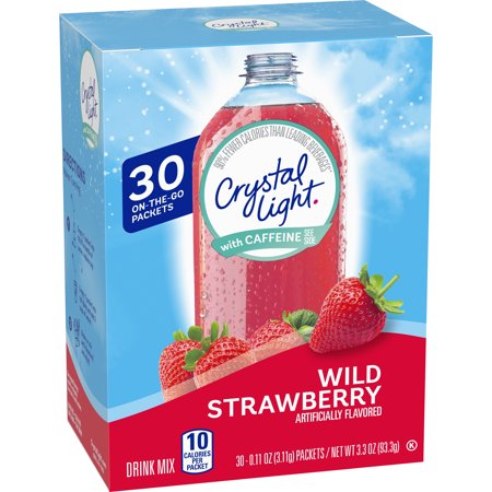 Crystal Light Sugar Free Wild Strawberry Powdered Drink Mix, 30 ct -