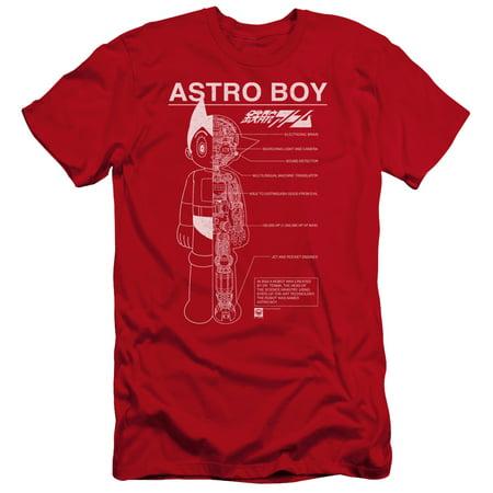 Astro Boy - Schematics - Premium Slim Fit Short Sleeve Shirt - XX-Large