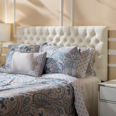 Noble House Conner Fabric Queen Full Headboard, Ivory - Walmart.com