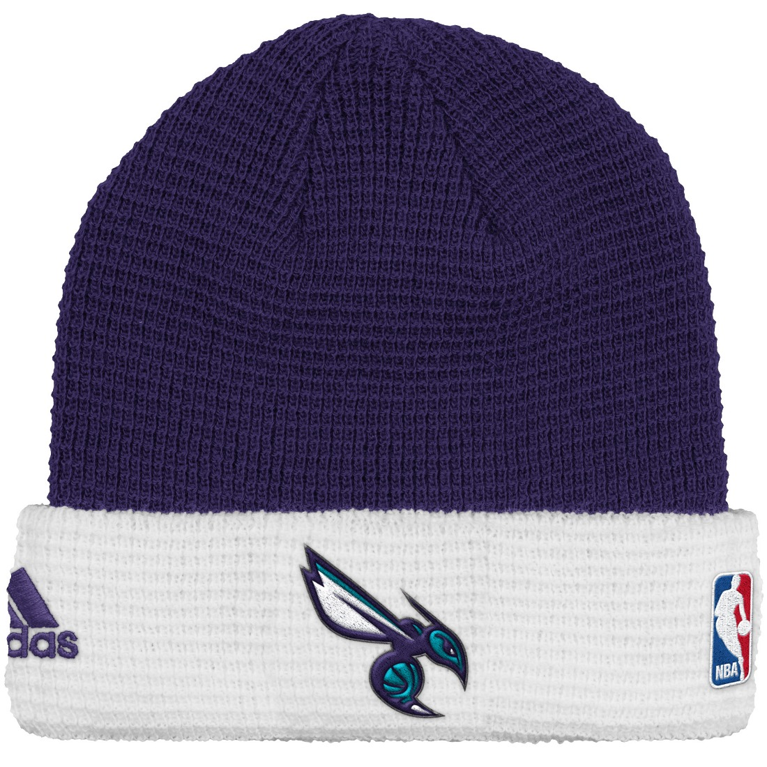 Charlotte Hornets Adidas NBA 2015 Authentic Team Cuffed Knit Hat