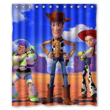 DEYOU Toy Story Woody Shower Curtain Polyester Fabric Bathroom Size 60x72 Inch
