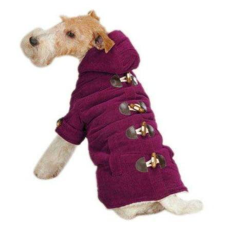 East Side Collection Corduroy Toggle Dog Coat DEEP RASPBERRY XX-SMALL (Dog Toggle)