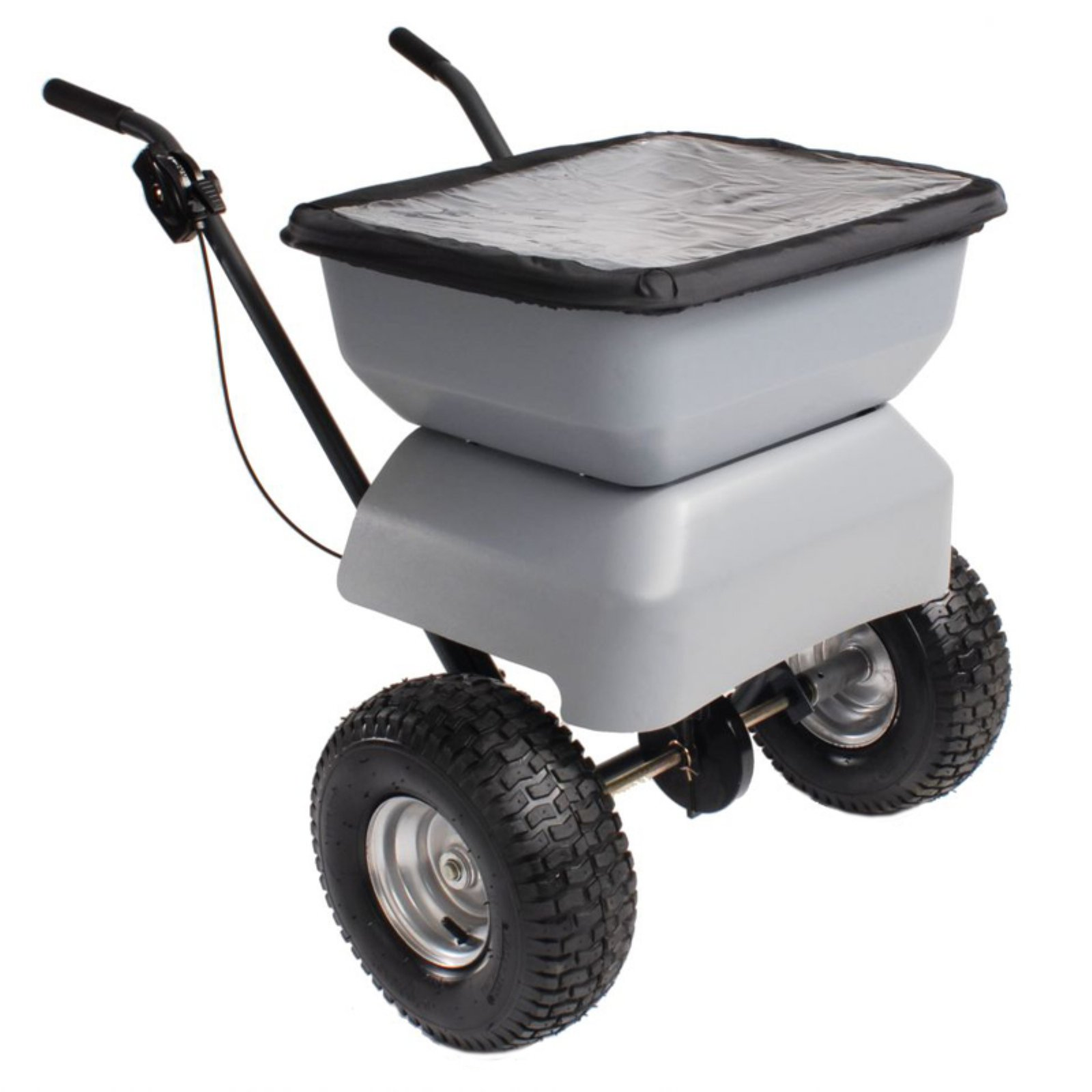 Precision Broadcast Salt Spreader with Rain Cover by LIVEDITOR LIGHTING