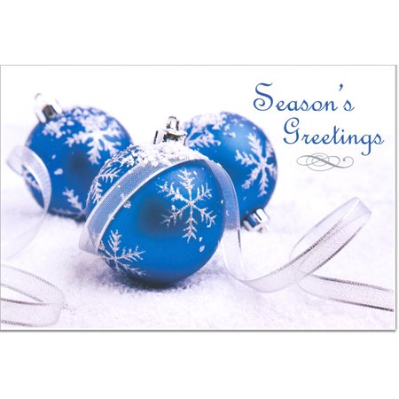 Blue bulbs christmas cards 16 greeting card sets walmart blue bulbs christmas cards 16 greeting card sets m4hsunfo
