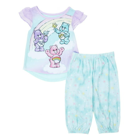 Toddler Girl Flutter Sleeve Top & Capri Pant Pajamas, 2pc Set - Toddler Care Bear Costume