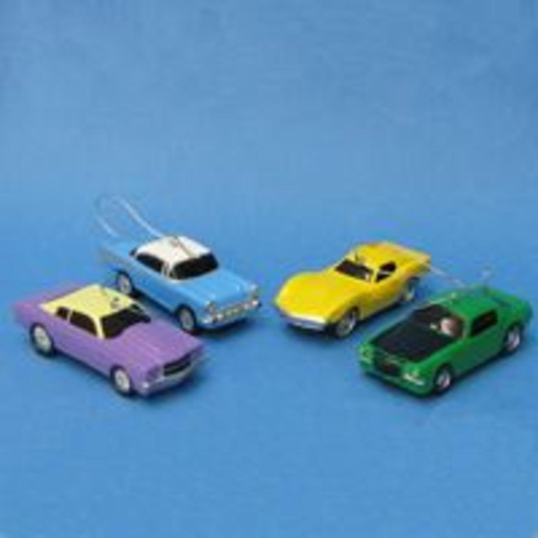 Purple Chevrolet Chevelle Car Blow Mold Christmas Ornament