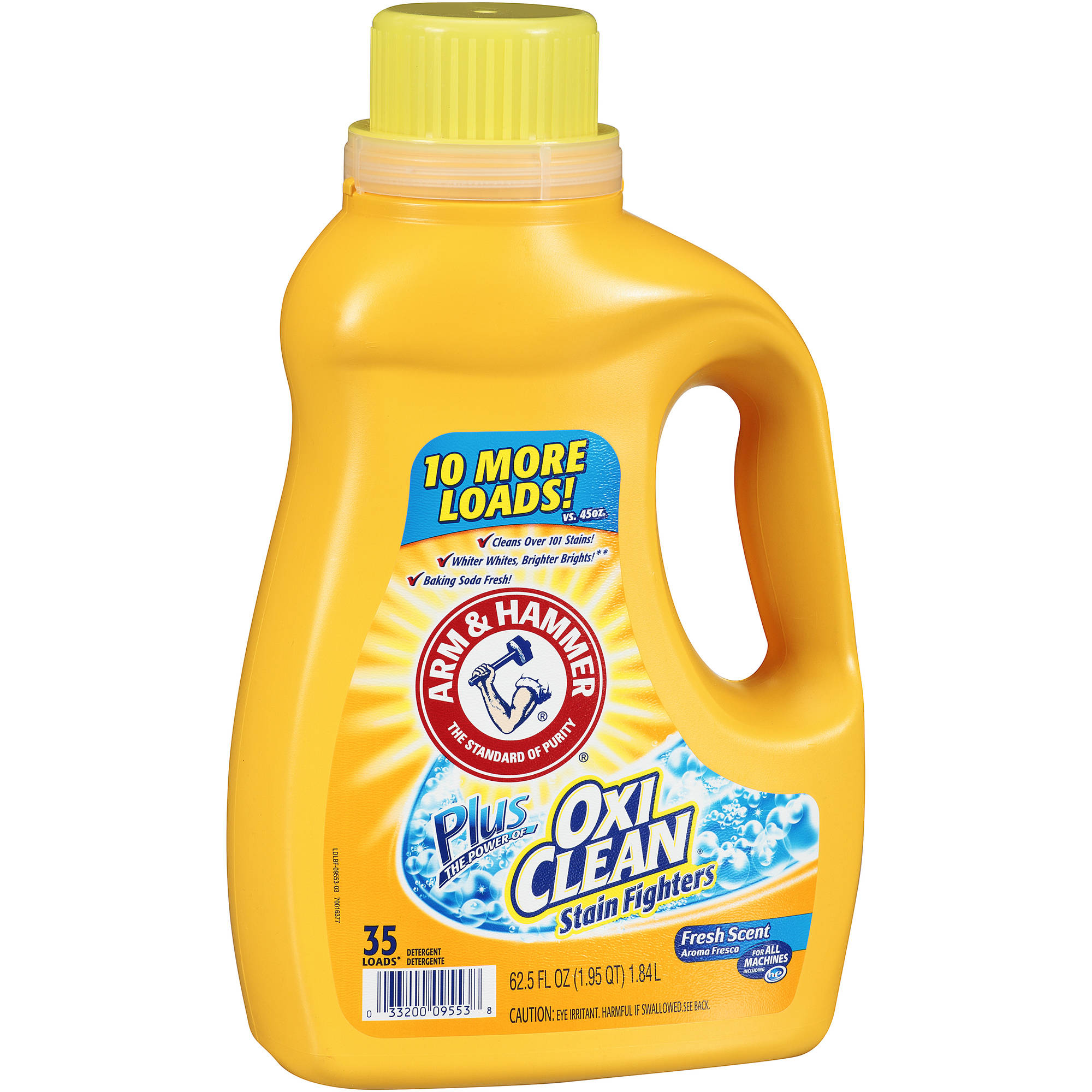 Arm & Hammer Plus Oxi Clean Stain Fighters Liquid Laundry Detergent, Fresh Scent,  62.5 oz