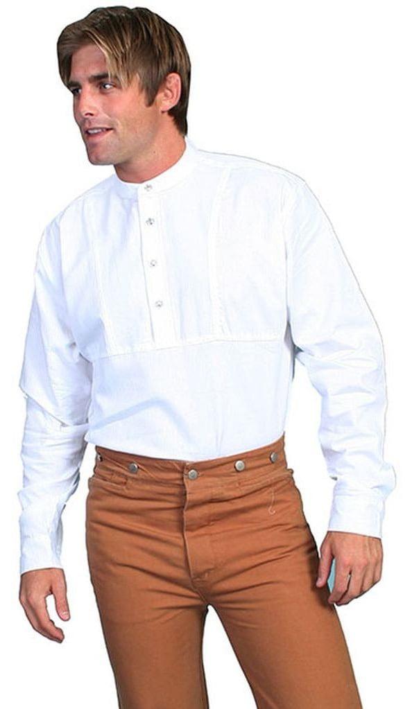 3Xt White Scully 579250X-WHT-3XT-B-T Wah Maker Mens 100 Percent Cotton Gambler Shirt
