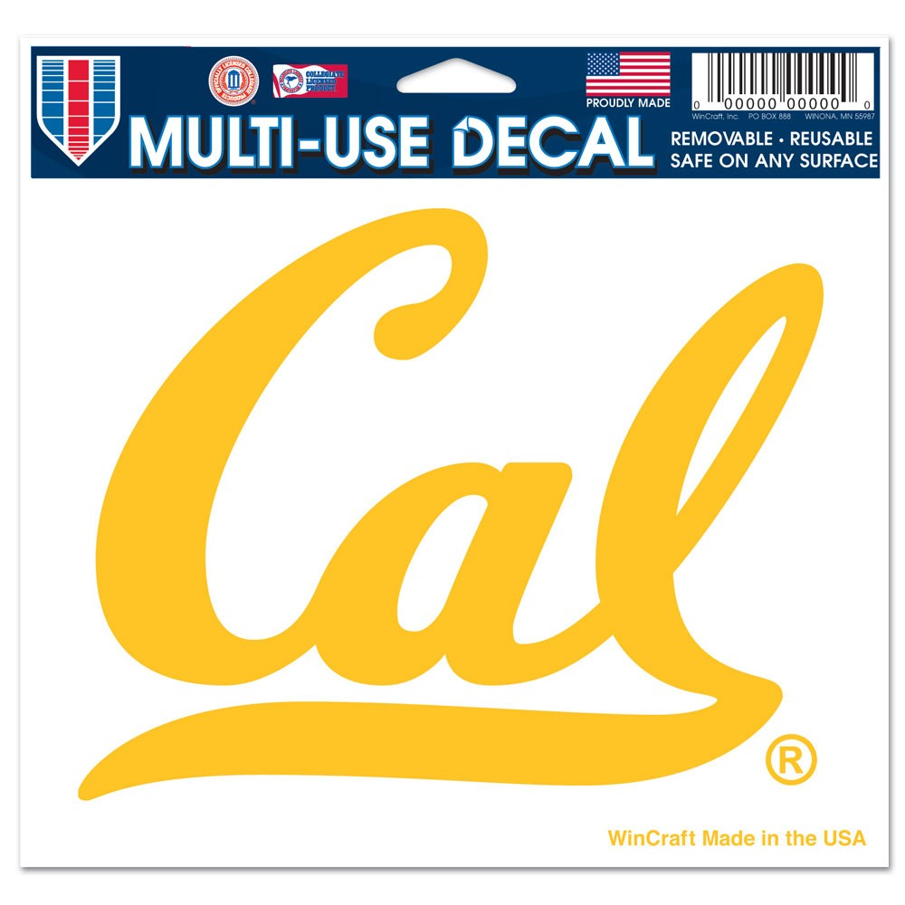 Cal Bears Official NCAA 4 inch x 6 inch  Car Window Cling Decal by Wincraft