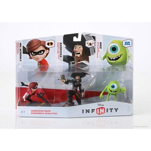 Disney Infinity Figure 3-Pack Sidekicks (Mike   Capt Barbossa   Mrs Incredible) (Universal) by Disney