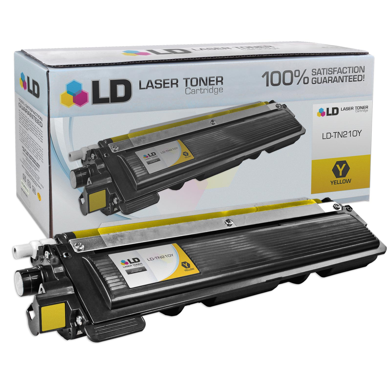 LD Brother Compatible TN-210 Laser Toner Cartridges: Black TN210BK, Cyan TN210C, Magenta TN210M, Yellow TN210Y