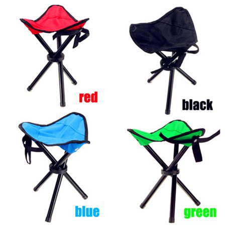 3 Legs Portable Chair Tripod Mini Folding Chair Stool Seat for Outdoor Travel Fishing Camping Hiking BBQ Picnic ()