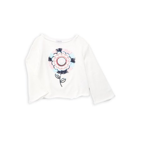 Little Girl's Embroidered Graphic Top