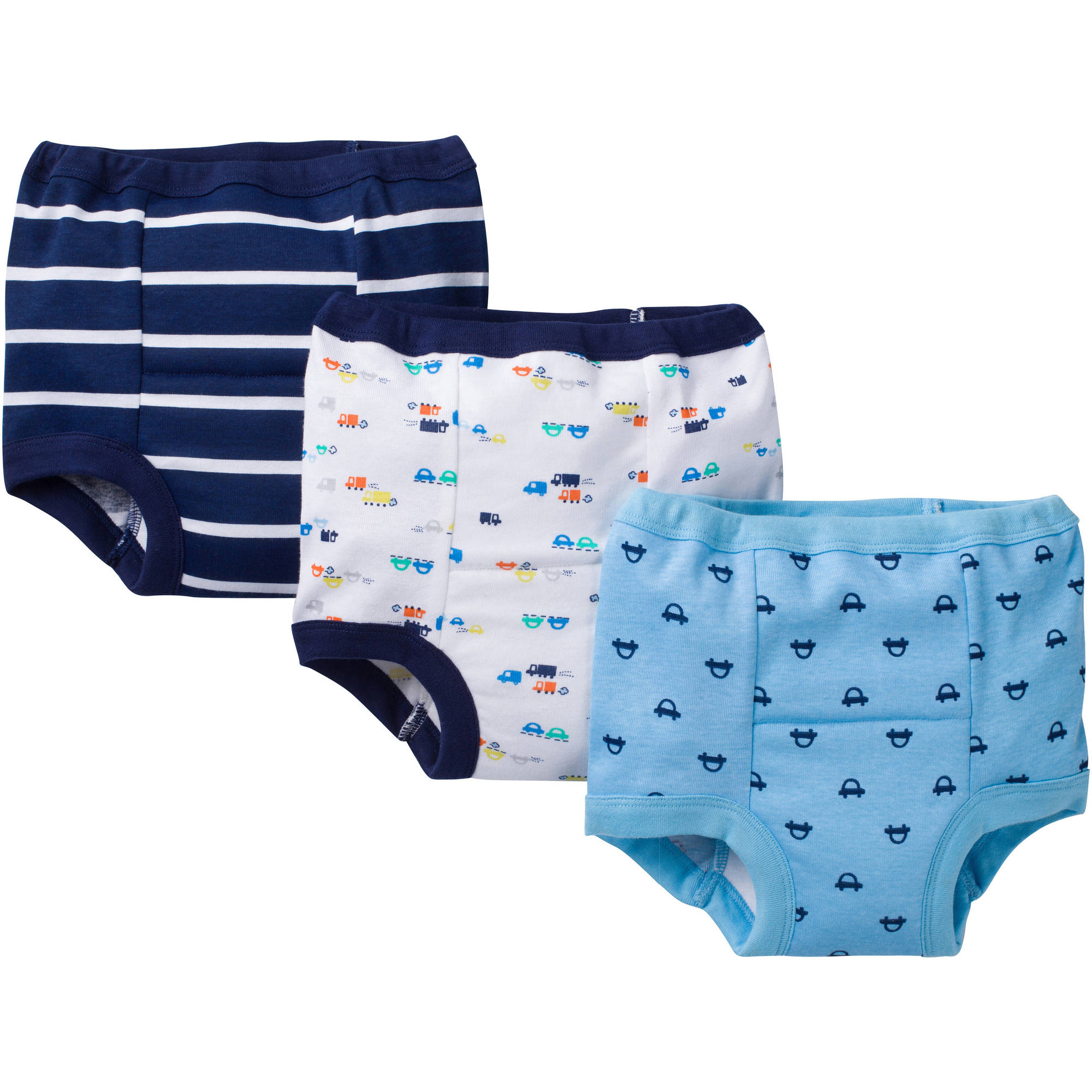 Gerber Toddler Boy Assorted Reusable Training Pants, 3-Pack