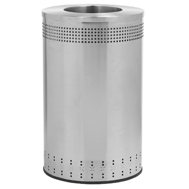 Commercial Zone Products 782329 Imprinted 45 Gallon Stainless Steel Trash Can