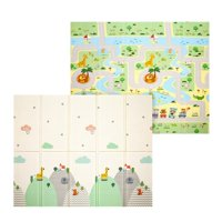 71x78x0.4inch Double-sided Baby Crawling Mat Kids Play Mat Foldable Crawling Picnic Pad