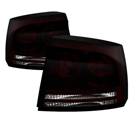 VIPMOTOZ Factory Style Smoke Lens Tail Light Lamp For 2006-2008 Dodge Charger
