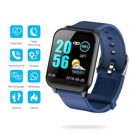 EEEKit Waterproof Bluetooth Fitness Tracker Smart Wrist Watch with Heart Rate & Sleep Monitoring, Pedometer, GPS, Ultra-Long Battery Life, Compatible with iOS iPhone Android