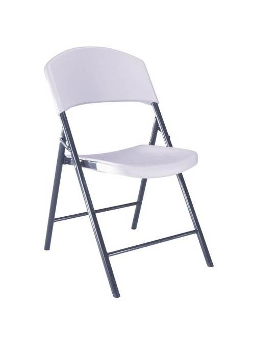 Light Commercial Folding Chair in White & Gray Set of 4 by Lifetime Products