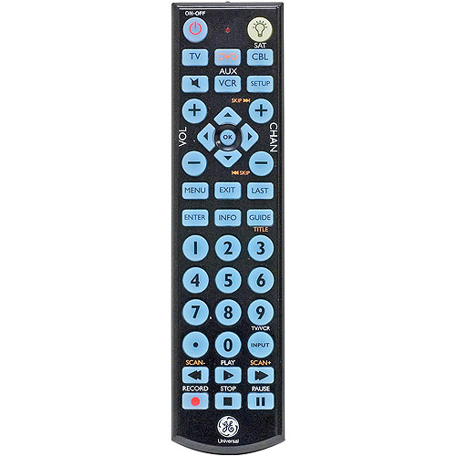 GE 4-Device Universal Remote Control with Blue Backlit
