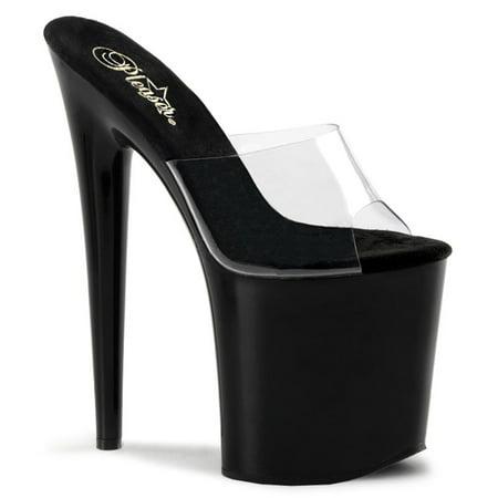 8 Inch Heel High Platform Sandal Shoe Slip On Sexy Stripper Shoes Open Toe](Clear Stripper Shoes)