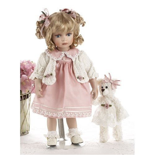 "Delton Products ""kristi"" Blonde Victorian Porcelain Doll, 14"", Pink"
