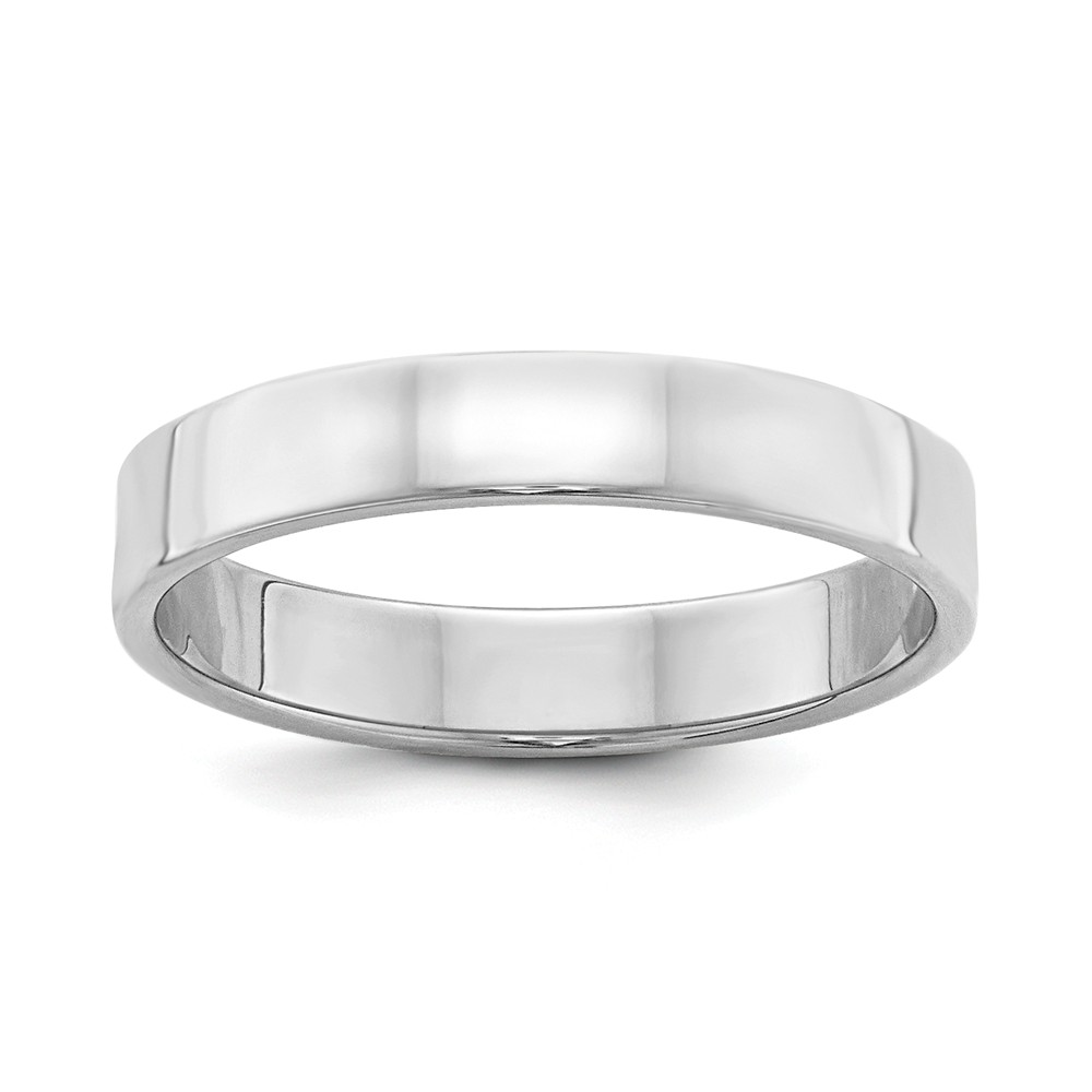 925 Sterling Silver 4mm Flat Band Wedding Ring Women Men 0GvGMcLenf