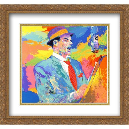 Frank Sinatra Duets 2x Matted 30x28 Large Gold Ornate Framed Art Print by Neiman, LeRoy