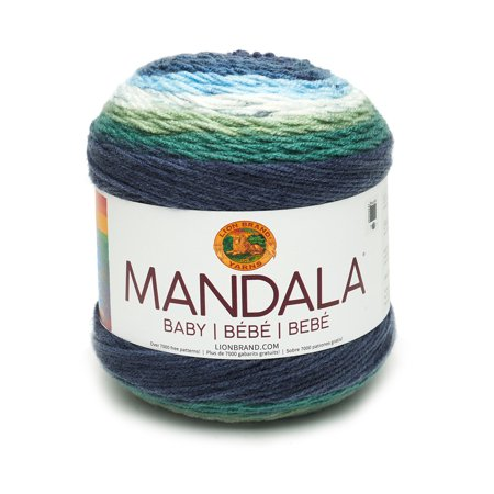 Lion Brand Yarn Mandala Baby Yarn, 590 Yd. (Alpaca With A Twist Baby Twist Yarn)