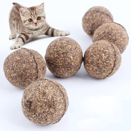 Cheers 1Pc Natural Catnip Healthy Funny Treats Ball Pet Kitten Cat Playing Relaxing Toy - image 1 of 7