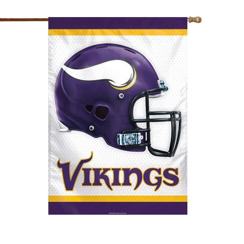 "Minnesota Vikings WinCraft 28"" x 40"" Double-Sided Banner Flag - No Size"