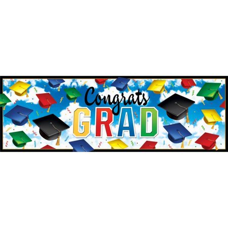 Creative Converting Graduation Celebration Giant Party Banner