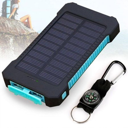 20000Mah Dual Usb Solar Power Bank External Battery Charger With Compass