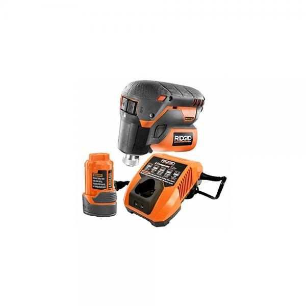 Ridgid R8224K 12-Volt Lithium-Ion 1/4 in. Cordless Palm I...