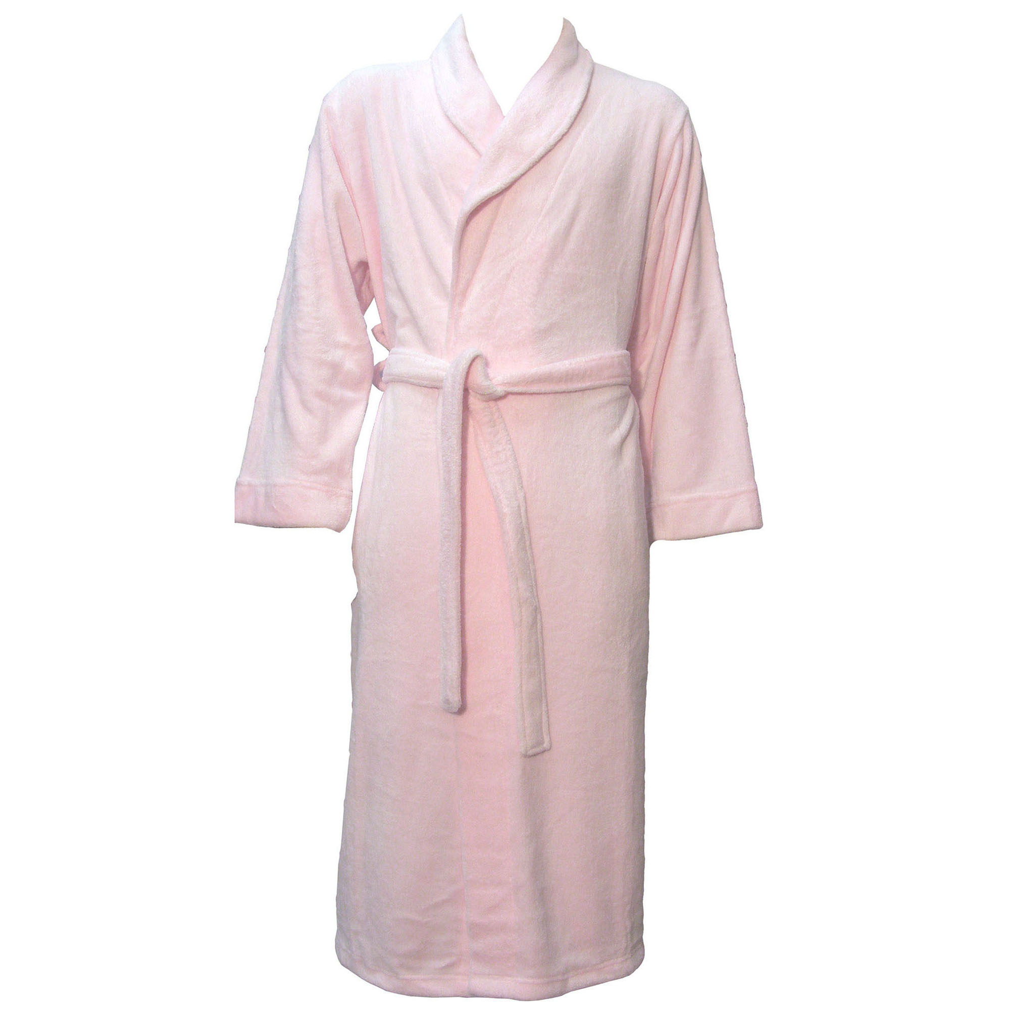 Warm Plush Spa Hotel Kimono Bath Robe Bathrobe for Women and Men Pink by